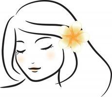 2469193424-5 girl w  flower
